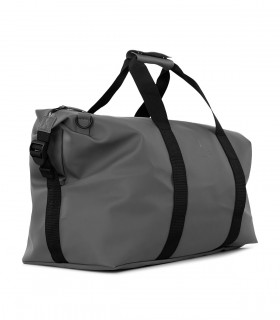 Rains waterdichte tas weekend bag charcoal zijkant