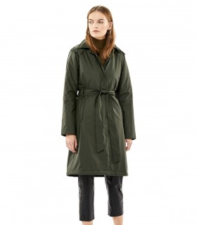 Regenjas dames RAINS W trenchcoat green vrouwelijk model