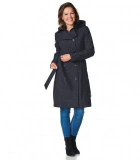 Happy Rainy Days Trenchcoat Zipper Becca vrouwelijk model voorkant
