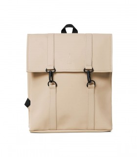RAINS MSN Bag Mini / Rugtas Beige voorkant