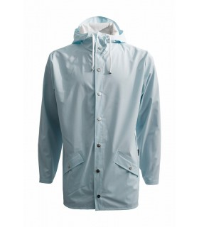 Rains jacket wan blue kort model