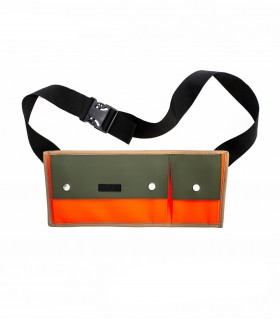 Waterdichte tas Rains cross bag oranje/groen