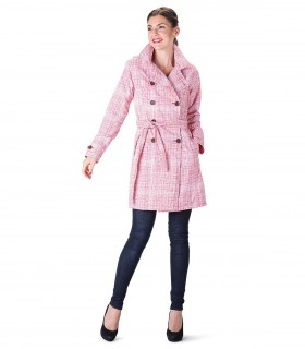 Happy Rainy Days trenchcoat met capuchon rood wit + gratis techwash