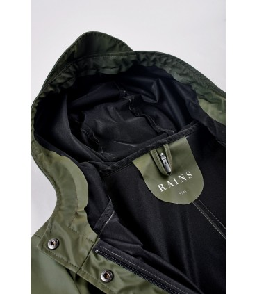 RAINS - Curve jacket groen