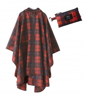 KiU regenponcho - Check Red