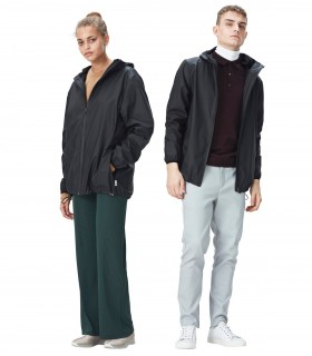 RAINS Base jacket Zwart