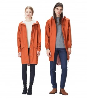 RAINS Long jacket Rust