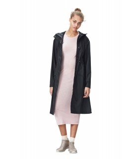 RAINS - Noon coat zwart
