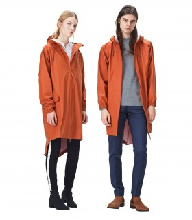 RAINS Parka coat rust
