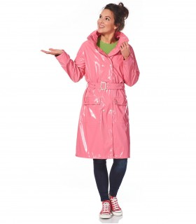Happy Rainy Days lakjas lange regenjas dames Pink + gratis techwash