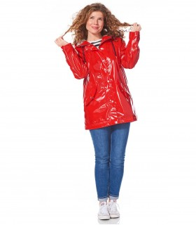 Happy Rainy Days lakjas regenjas dames Rood+ gratis techwash