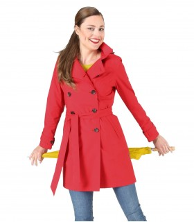Happy Rainy Days trenchcoat met capuchon Rood