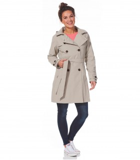 Happy Rainy Days trenchcoat met capuchon grijs + gratis techwash
