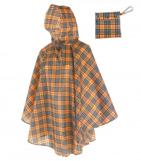 Love for Rain Regenponcho - Burberry ruit