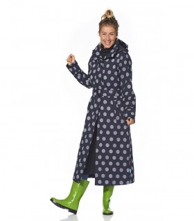 Happy Rainy Days lange regenjas Winny black - off white