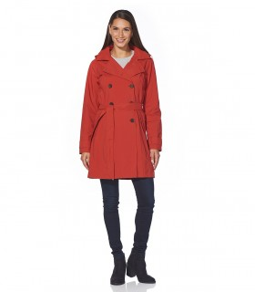 Regenjas dames trenchcoat Happy Rainy Days cassandra cayenne vrouwelijk model voorkant