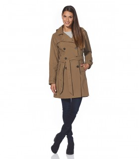Regenjas dames trenchcoat Happy Rainy Days sheila safari vrouwelijk model voorkant