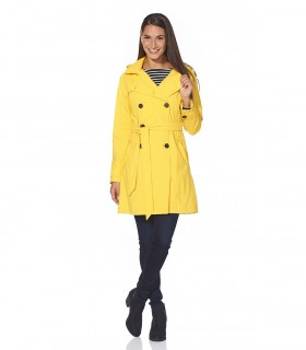 Regenjas dames trenchcoat Happy Rainy Days stella sun vrouwelijk model voorkant