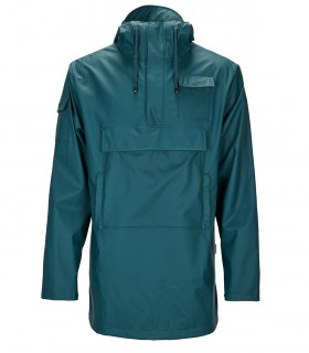 RAINS Camp Anorak Dark Teal regenjas