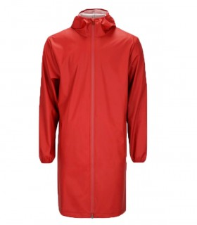 RAINS Base jacket long Scarlet - Lange regenjas