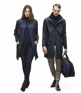 RAINS Long jacket blauw
