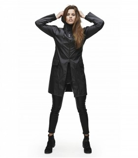 RAINS A-jacket zwart