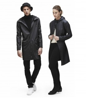 RAINS Long jacket zwart
