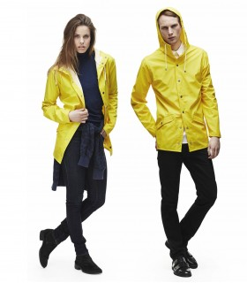 RAINS Jacket geel