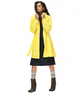 RAINS Curve jacket Geel