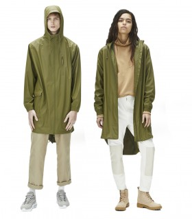 RAINS Parka coat Sage