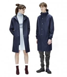 Rains Fishtail Parka blauw