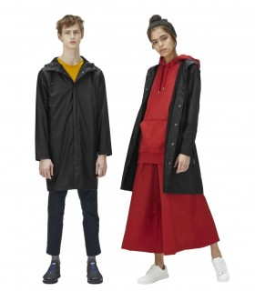 RAINS Coat Zwart