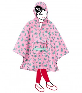 Kinderponcho - Cactus Roze