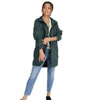 Longline hooded Jacket Groen