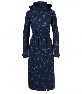 AGU Urban Outdoor Trenchcoat Long Women Blauw