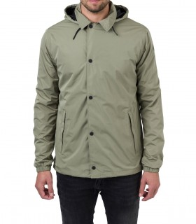 Regenjas heren AGU coach jacket men groen voorkant