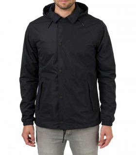 Regenjas heren AGU coach jacket men zwart voorkant