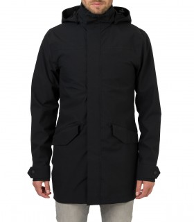 Regenjas heren AGU long parka jacket men zwart voorkant