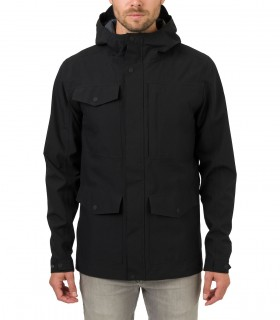 Regenjas heren AGU pocket jacket men zwart voorkant