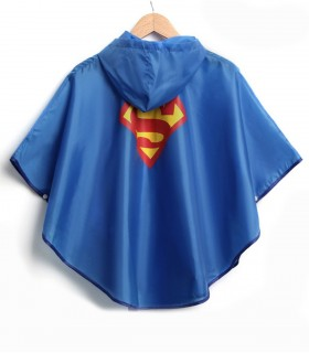 Superman regenponcho kind achterkant