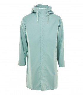 Regenjas dames en regenjas heren RAINS coat dusty mint voorkant volledig