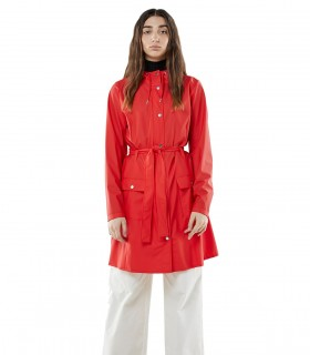 Regenjas dames Rains curve jacket red vrouwelijk model