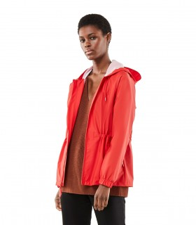 Regenjas dames Rains w jacket red vrouwelijk model