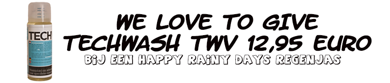 Gratis techwash bij happy rainy days